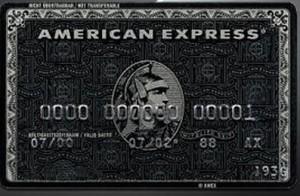 Americn Express Centurion luottokortti
