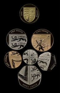 Englannin valuutta kolikot