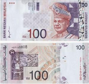 Malesian valuutta