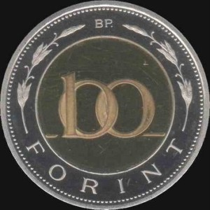 Unkarin valuutta kolikko