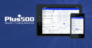 Plus500 CFD-finanssivälittäjä.