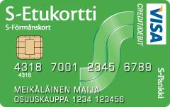 S-Etukortti VISA luottokortti