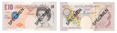 Englannin valuutta seteli