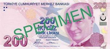 Turkin valuutta seteli