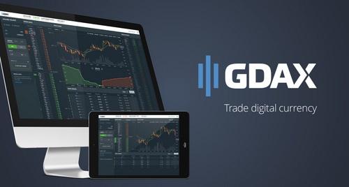 GDAX bitcoin pörssi.