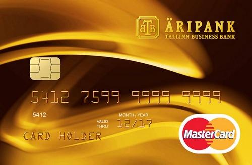 Tallinna Äripank MasterCard luottokortti.